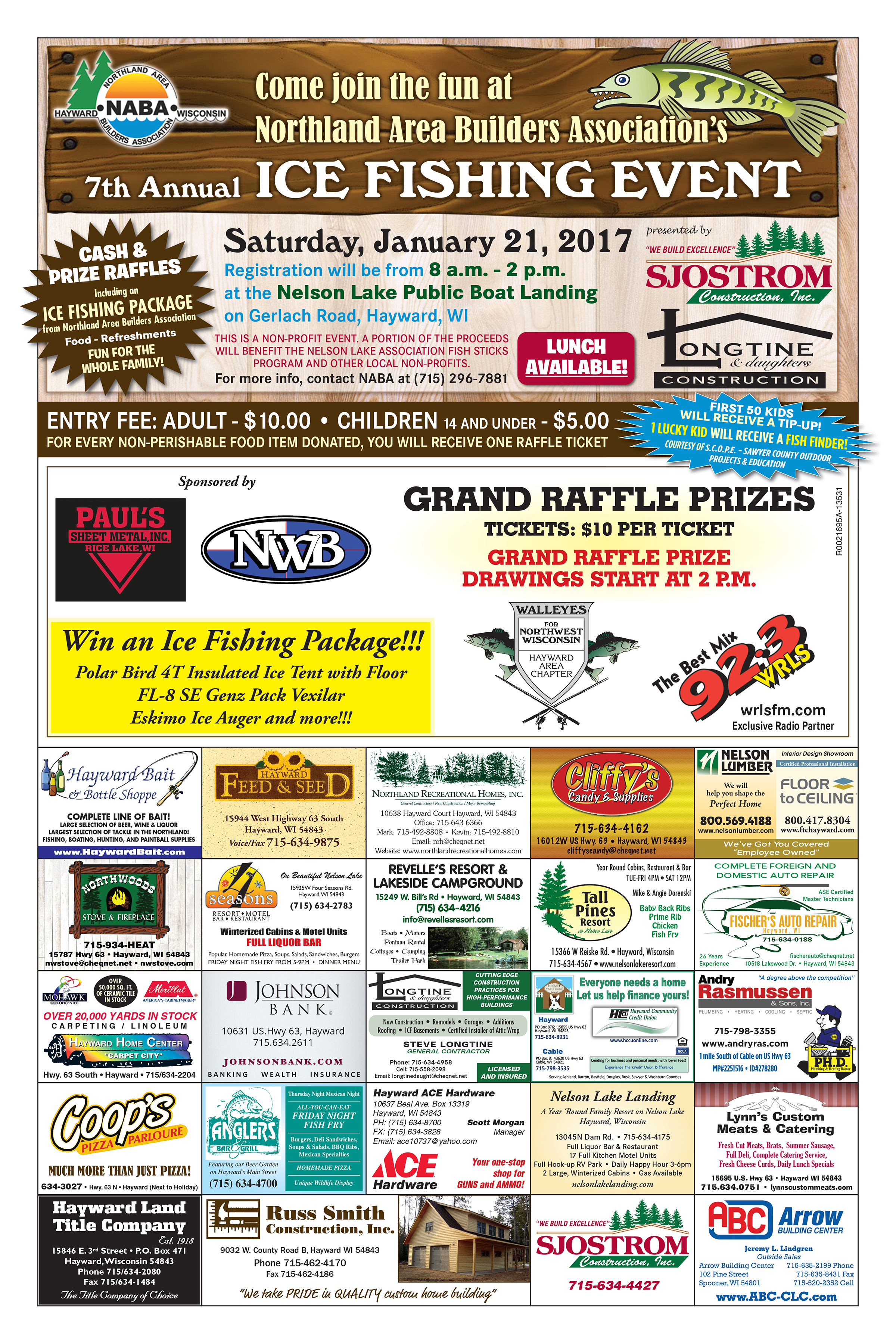 Northland Area Builders Association Ice Fishing Event